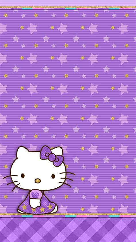 wallpaper ruangan hello kitty violet twilight hello kitty hello kitty pinterest
