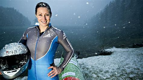 hot female bobsledders jana pittman switches from athletics to bobsleigh for a