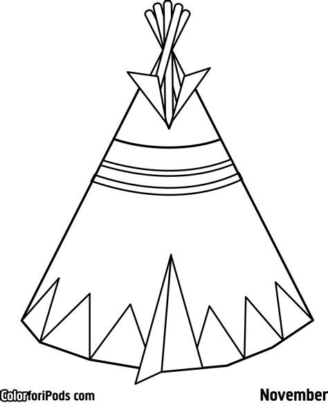 Free Coloring Pages Pi Ikea St Teepee Coloring Pages