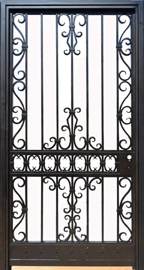 metal iron wooden safety door designs  grill