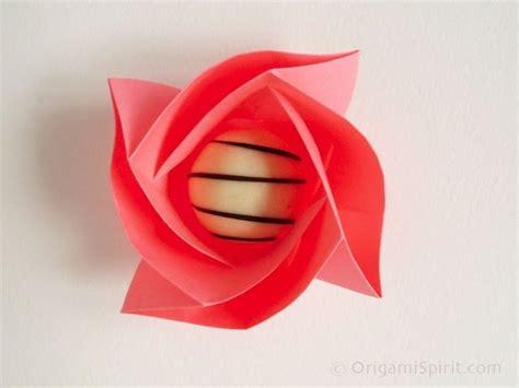 membuat origami mawar  naga  mudah bagi pemula