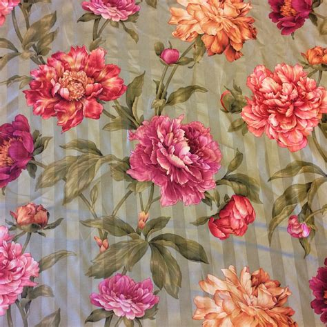 floral chintz upholstery fabric nl240 english sage striped floral chintz 100 cotton