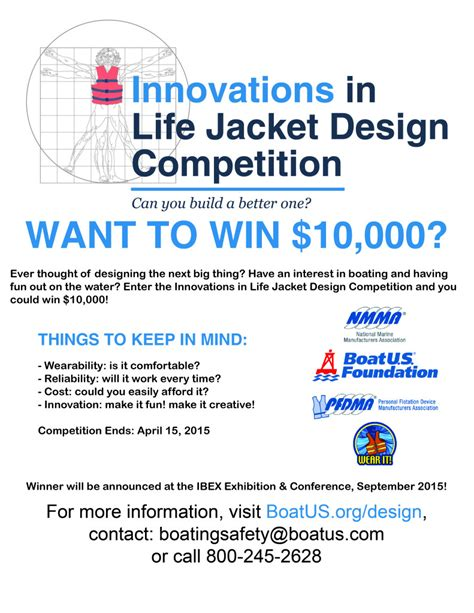 jacket design contest boatus rolls out build a better life jacket contest