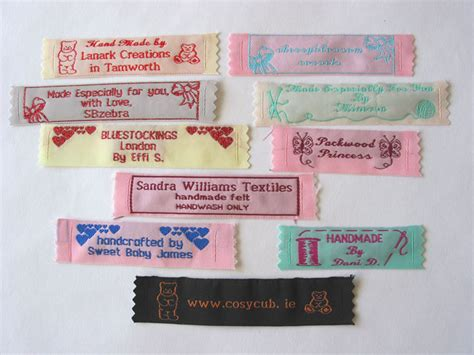 Handmade By Me Labels - custom clothing labels personalized woven sew on labels
