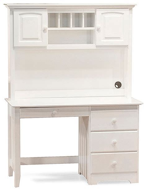 Windsor Wood Computer Desk With Hutch Set In White White Computer Desk With Hutch