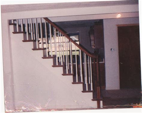 how to attach banister to wall converting closed stairs to open stairs home improvement