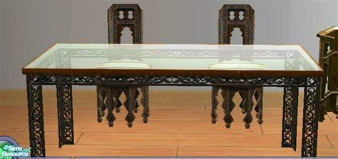 ssilver s moroccan glass top dining table