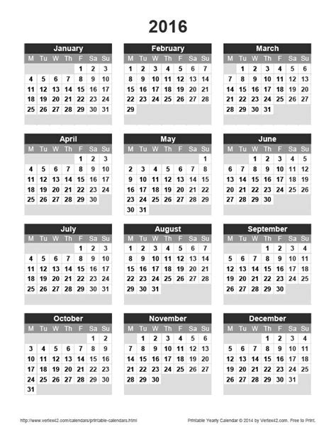25 best ideas about 2016 yearly calendar on pinterest