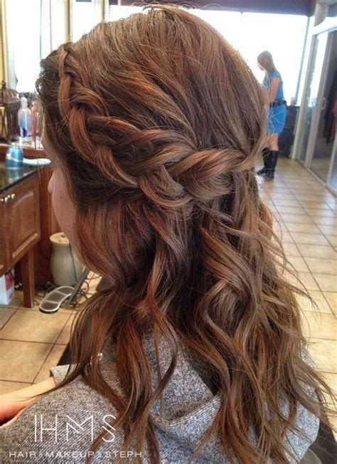 hairstyles half up half down with braids 20 great hairstyles for medium length hair 2016 pretty