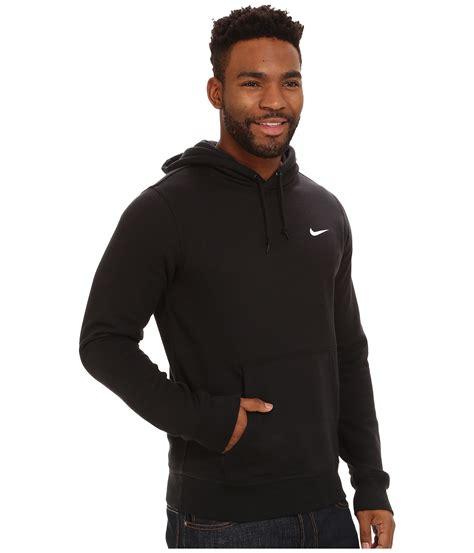 nike club hoodie swoosh in black for lyst