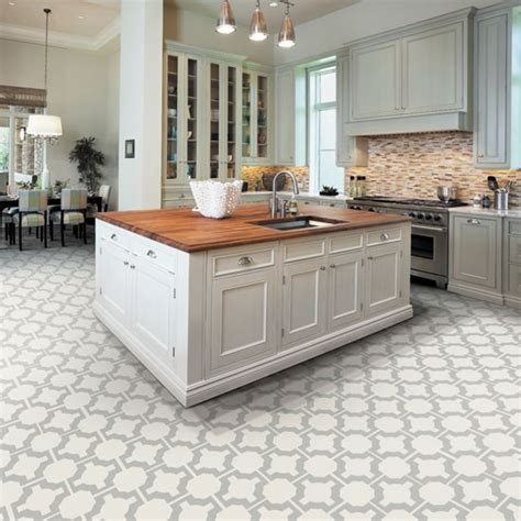 White Kitchen Flooring Ideas White Kitchen With Patterned Flooring Kitchen Flooring Ideas 10 Of The Best Housetohome Co Uk