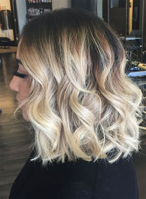 best salons in dallas for blondes balayage ombre highlights on short hair long bob lob