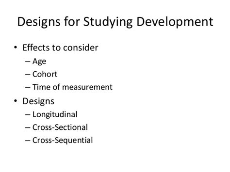 Longitudinal Cross Sectional And Sequential Designs by Fixed Designs For Psychological Research