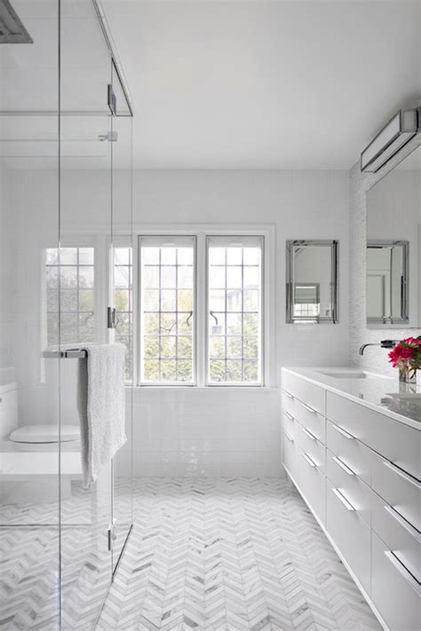 Modern Bathroom Floors Subway Tile Shower Surround Traditional Bathroom Bhg