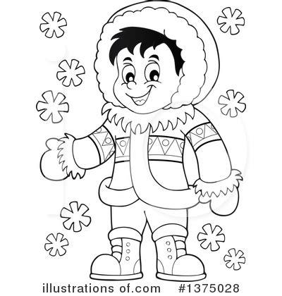 eskimo clipart eskimo clipart outline pencil and in color eskimo
