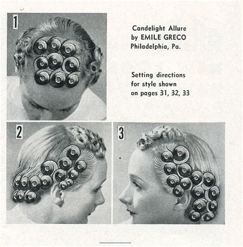 Pin Curl Diagram