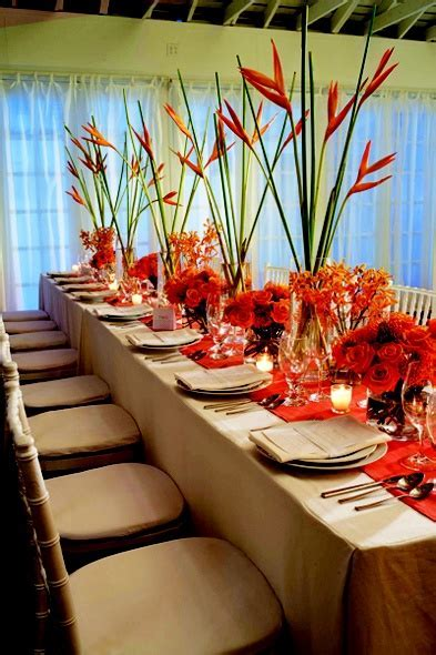 Tall tapered centerpieces are on trend even in the