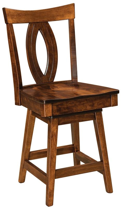 Amish Bar Stools Sale by Miami Swivel Bar Stool From Dutchcrafters Amish Furniture
