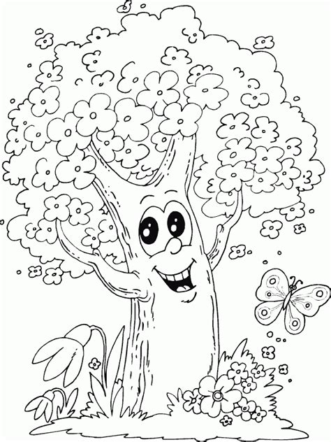 Flowers And Butterflies Coloring Pages   Cute Coloring