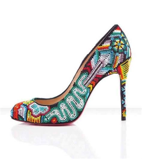 beaded heels beaded shoe design beaded objects patterns