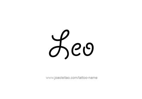 leo tattoo lettering leo name tattoo designs