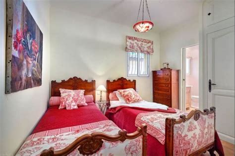 red toile bedroom live and cook in julia child s kitchen in her french cottage la pitchoune