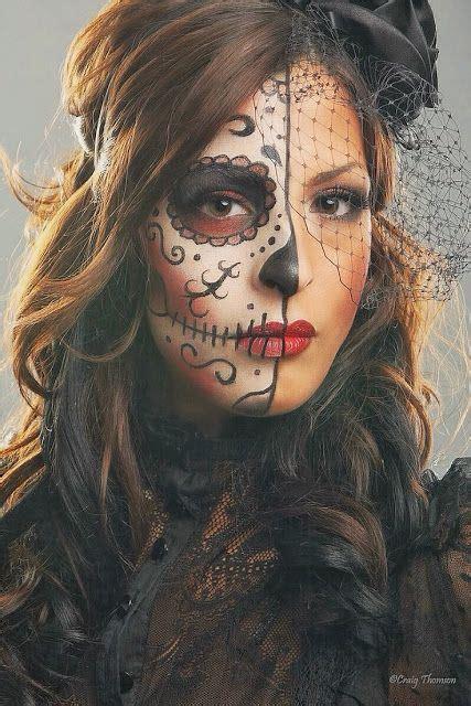 imagenes de halloween para el rostro maquillajes de la catrina para el d 237 a de muertos dise 241 o