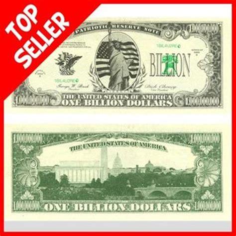 Novelty One Billion Dollar Bill   Free shipping offer!