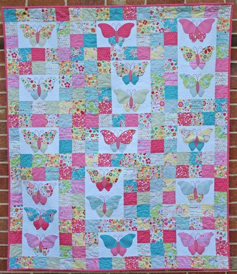 watercolor quilt pattern with cats and butterflies best 25 butterfly quilt pattern ideas on pinterest baby