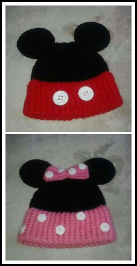 loom knit minnie mouse hat mickey minnie mouse loom knitted hats for the