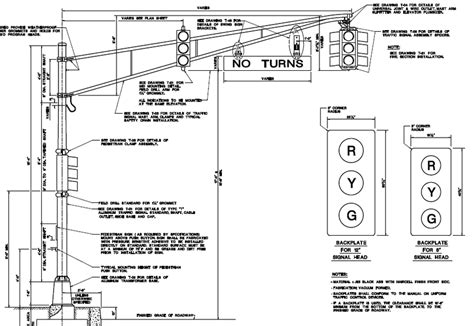 Njdot Detail For Aluminum Pole And Mast Arm For Traffic