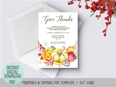 editable place card template thanksgiving editable pdf thanksgiving invitation template give thanks