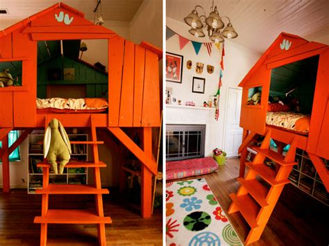 kids bedroom treehouse diy treehouse bed inhabitots