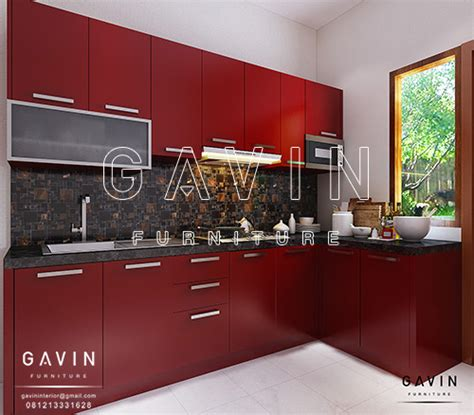 Lemari Pakaian Maroon gambar kitchen set minimalis merah maroon di kebagusan
