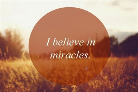 I Believe In Miracles Threes Emir 1 expect miracles instead of resolutions thin within