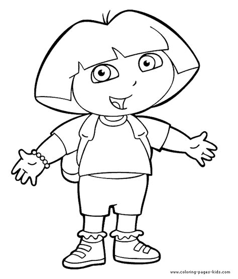 coloring pictures of dora the explorer characters dora the explorer color page cartoon color pages