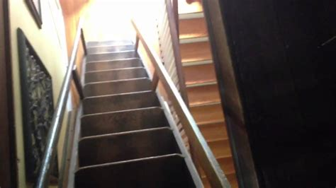 antique attic ladder antique attic stairs my retractable attic stairs youtube