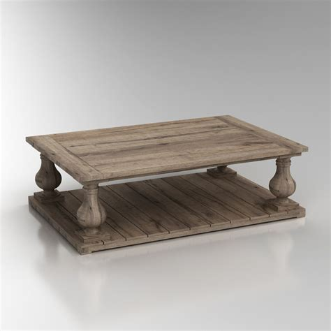 Balustrade Coffee Table 3d Balustrade Salvaged Wood Coffee Table High Quality 3d Models