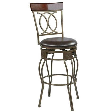 office bar stools 30 quot metal swivel bar stool in espresso csm2530 es