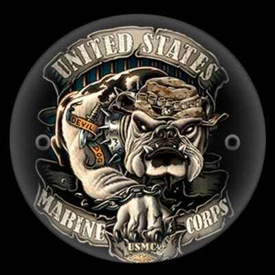 harley victory derby cover usmc devil dog design