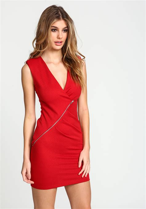 edgy hair over 50 in 78753 zip code junior clothing red zip ruched wrap dress loveculture com