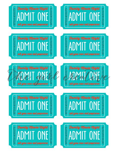 printable movie night tickets family movie night with printable tickets the girl creative