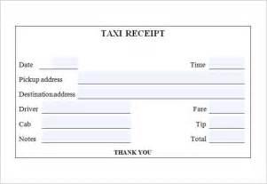 Taxi Receipt Template by 9 Taxi Receipt Templates Free Sles Exles Format