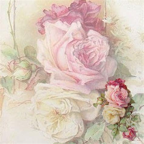 the artzee blog 12 x 12 inch vintage pink roses printable