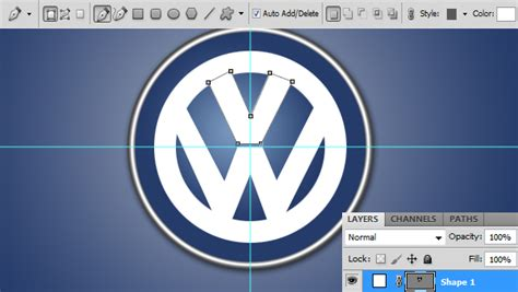 tutorial logo vw photoshop drawing creating the volkswagen logo in