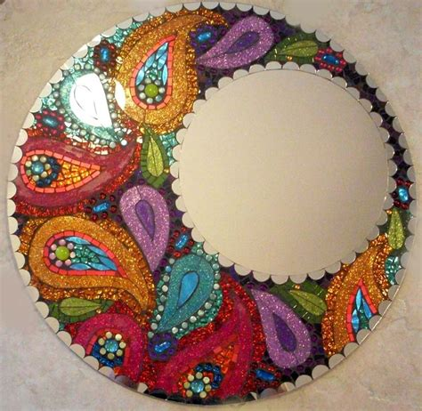 Handmade Mosaic - custom made mosaic stained glass mirror my style