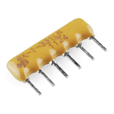 0 ohm resistor network resistor network 330 ohm 6 pin bussed 10855 sparkfun electronics