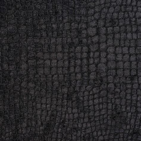 Victorian Screens Room Dividers - black alligator print shiny woven velvet upholstery fabric by the yard contemporary