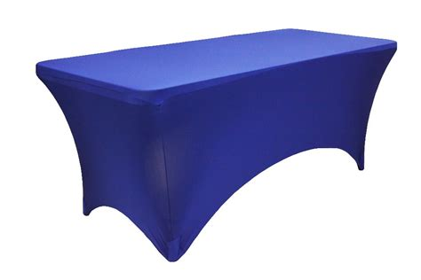 table cover rectangular 8 ft spandex table cover royal blue fall