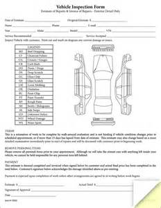vehicle inspection amp estimate form buy now estampe